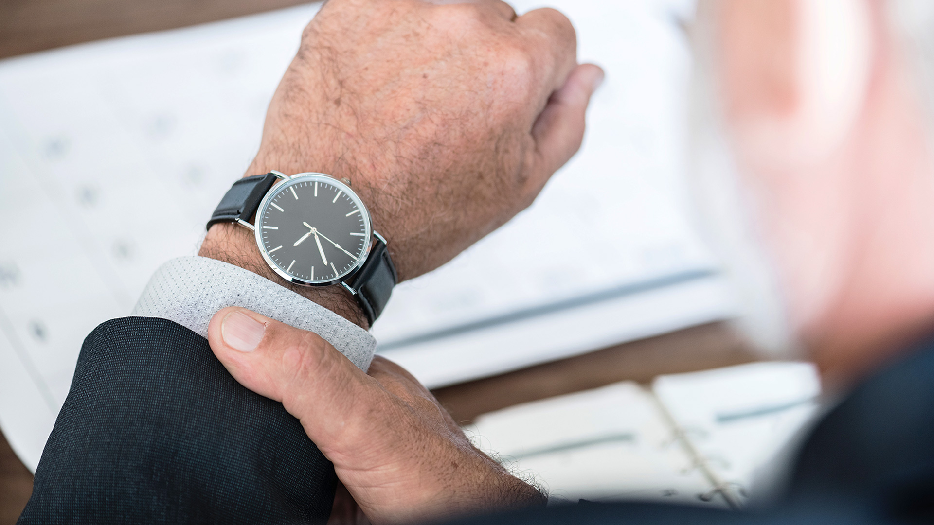 Man scheduling time ahead of payday